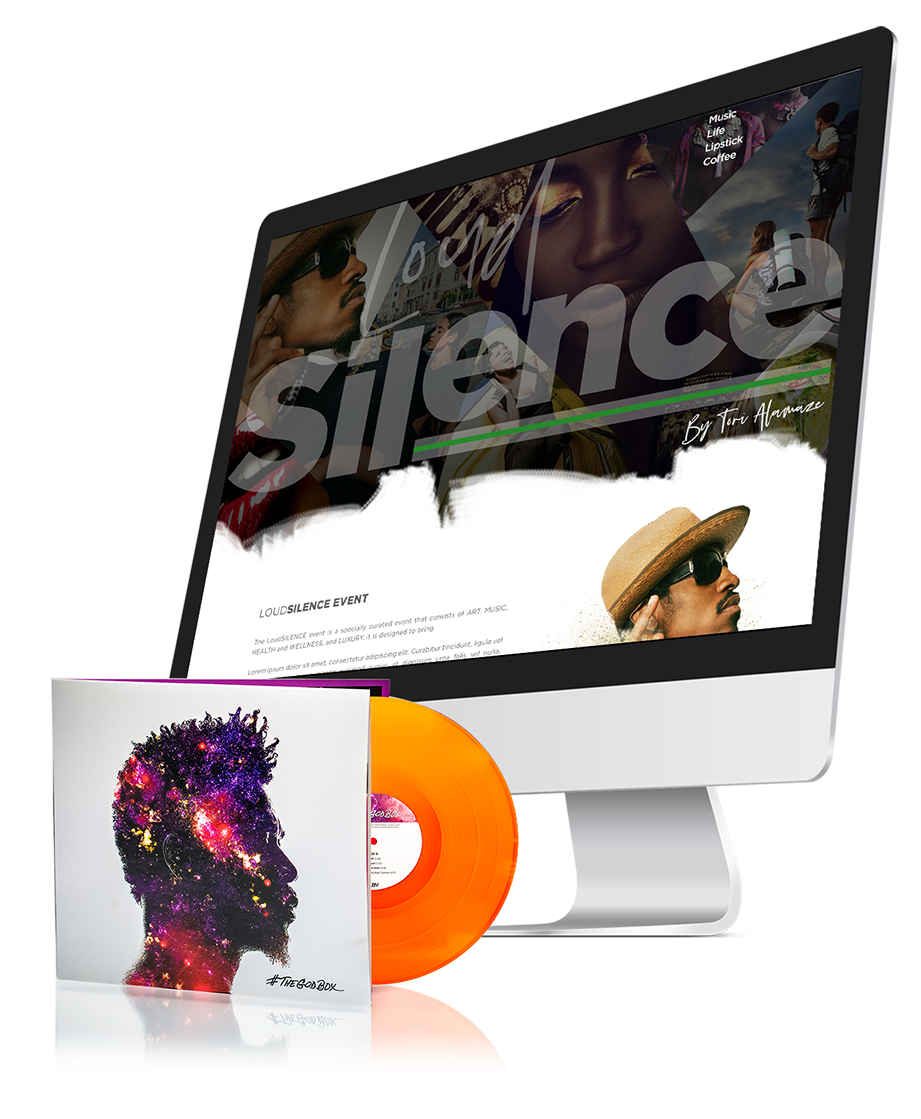 example of the loud silence website and the david banner cd photography
