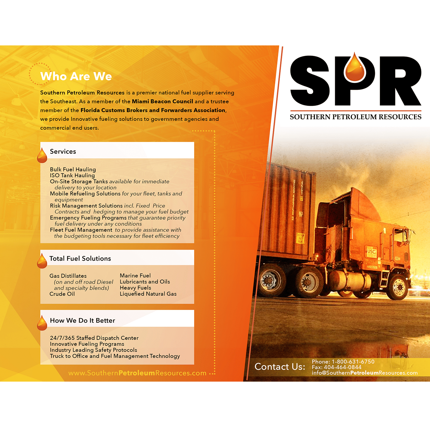 SPR brochure design